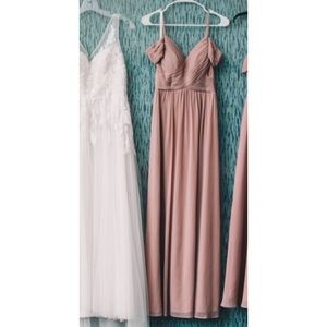 Dresses & Skirts - Rose Mauve Pink Gown Prom Dress Bridesmaid